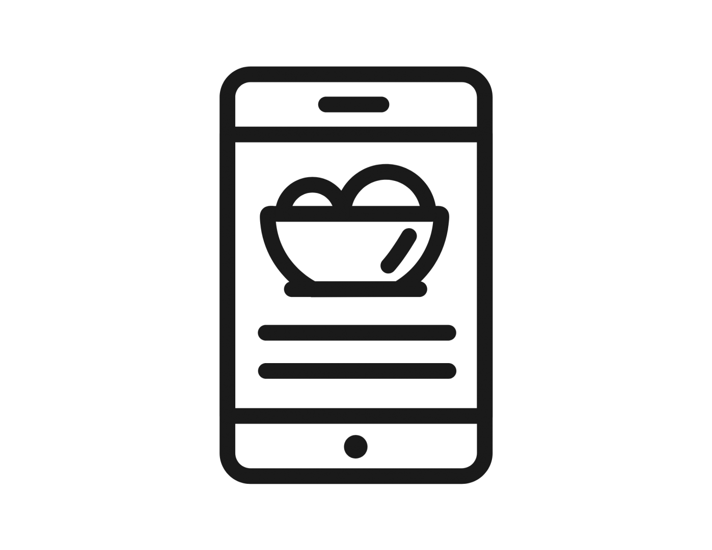 An image of a phone with recipe